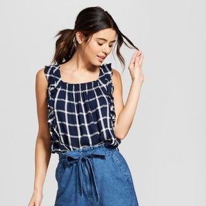 New Universal Thread Plaid Top